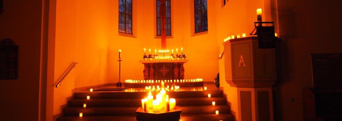 Earth Hour-Gottesdienst ohne Strom