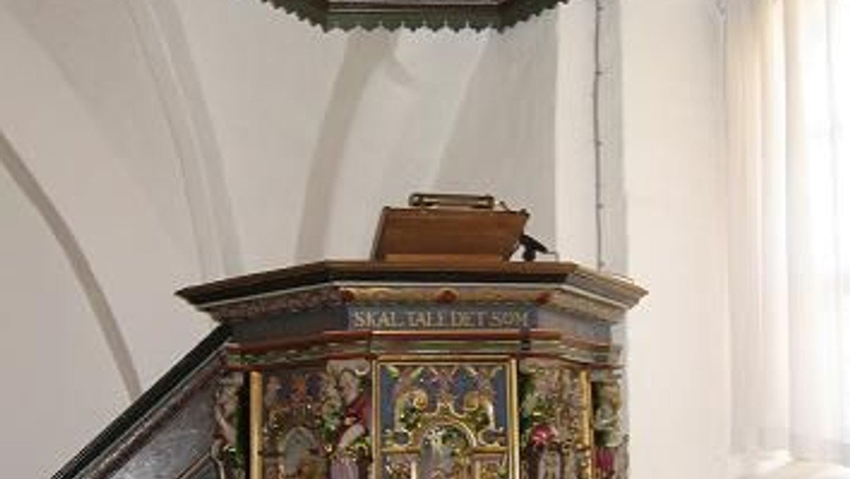 Gudstjeneste i Tune Kirke, v. Claus Oldenburg