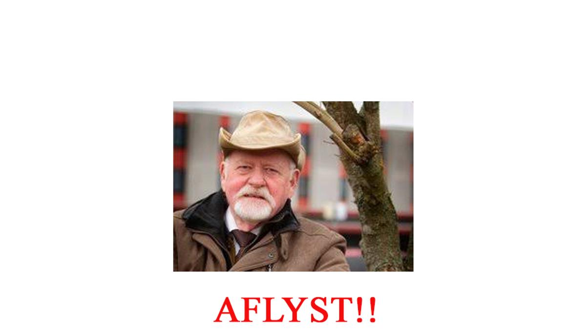 """Sogneaften - Hugo Mortensen """"Om at komme gennem livet"""" AFLYST!!"""