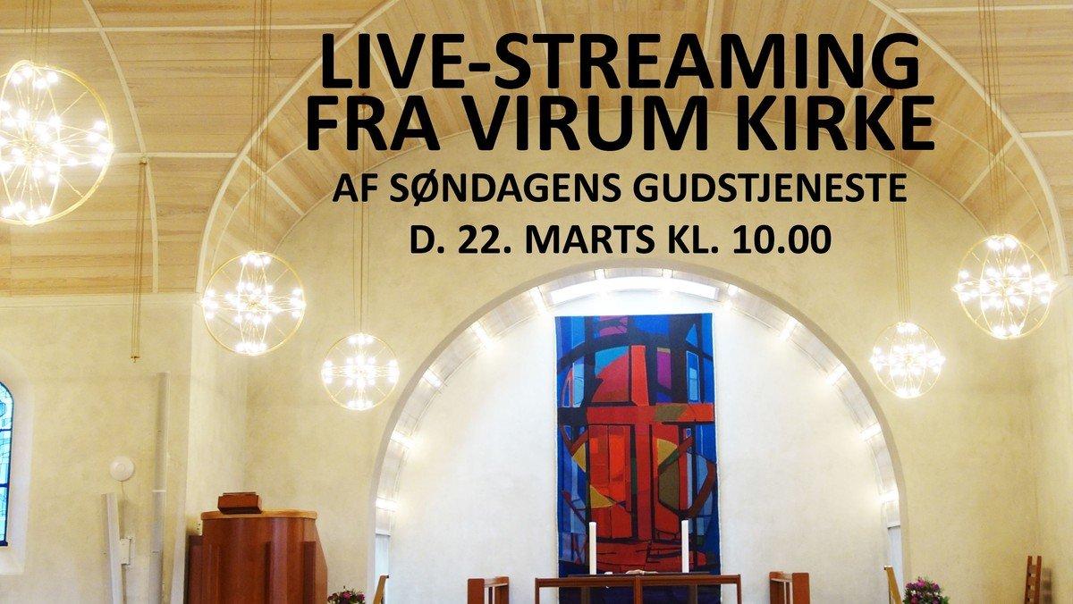 Livestreaming af søndagens gudstjeneste
