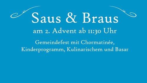 Gemeindefest Saus & Braus