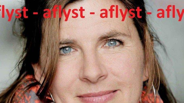 Fredagsmødet med Anna Katrin Nørgaard er aflyst