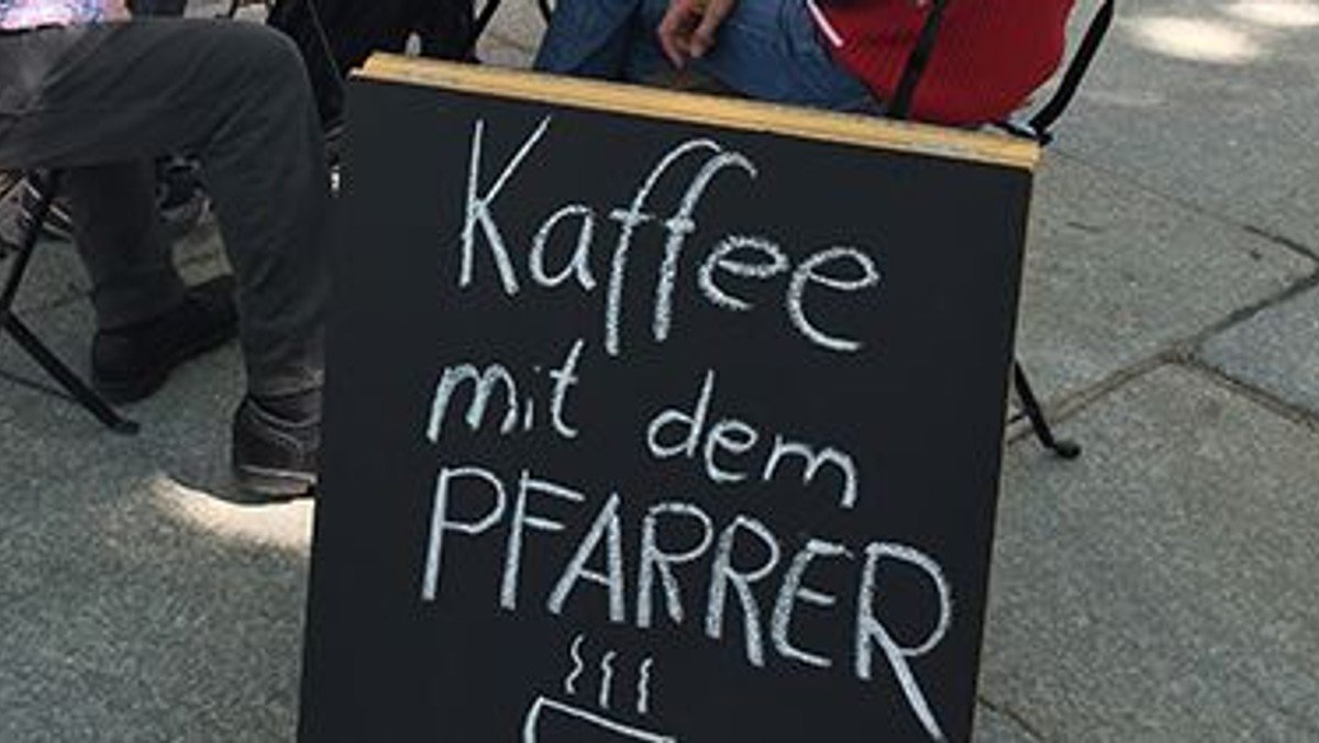 Ein Kaffee mit dem Pfarrer