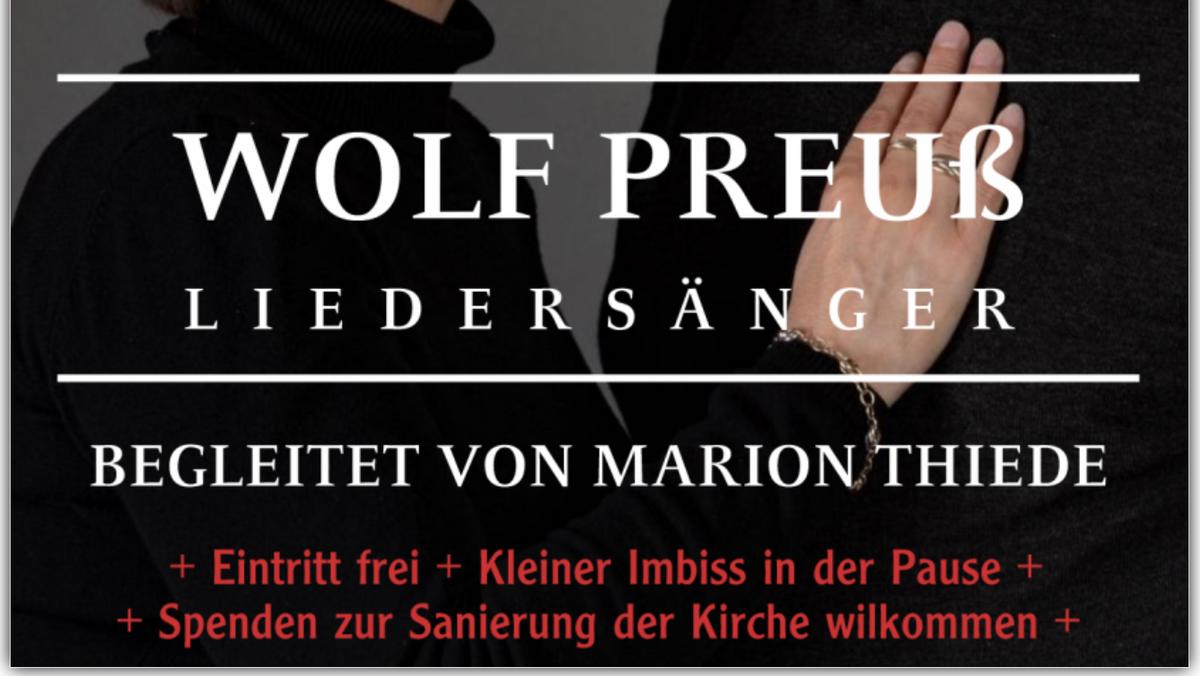 """Wolf Preuß : """"Lieder aus 2. Hand"""" - Benefizkonzert in Niederlehme"""