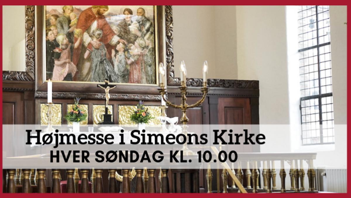 "Højmesse med ""Mer´Klaver""  i Simeons Kirke"