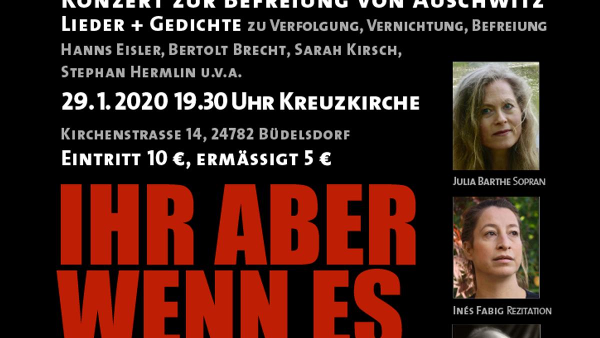 """Kreuzkirche Konzert """"An die Nachgeborenen - Konzert zur Befreiung von Auschwitz"""""""