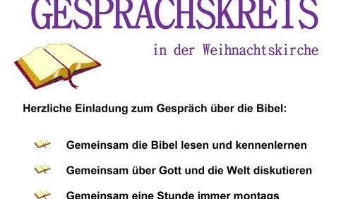 Bibelgesprächskreis fällt leider aus, situationsbedingt