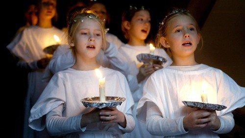 Julekoncert med luciaoptog, kirkens børnekor