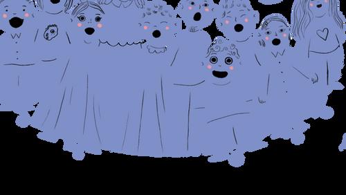 Juniorkor i Husum Kirke /  UDENDØRS