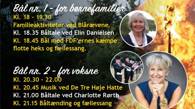 Sankt Hans Fester 2021  - en for børnefamilier, en for voksne.