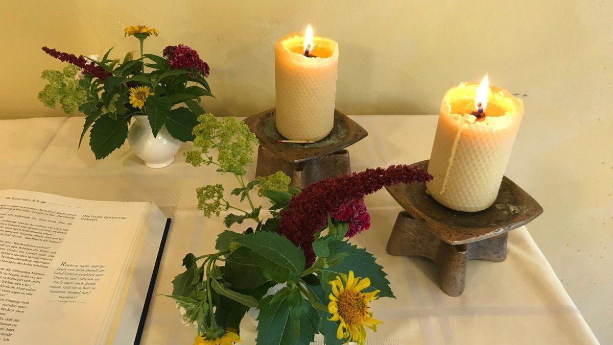 Gottesdienst zum Erntedankfest, mit Abendmahl