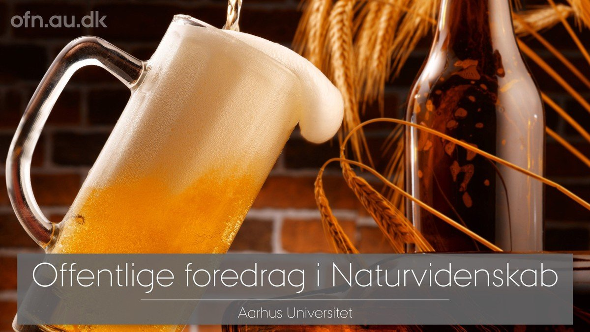 Livestream fra Aarhus Universitet - Smagen af øl