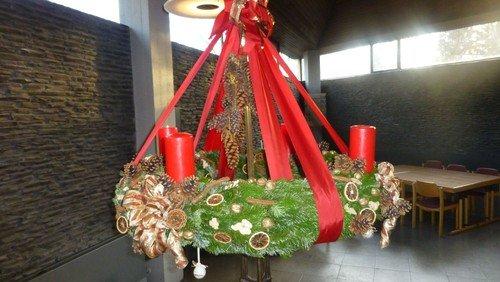 Gottesdienst zum 4. Advent im Innenhof des Hermann-Radtke-Haus