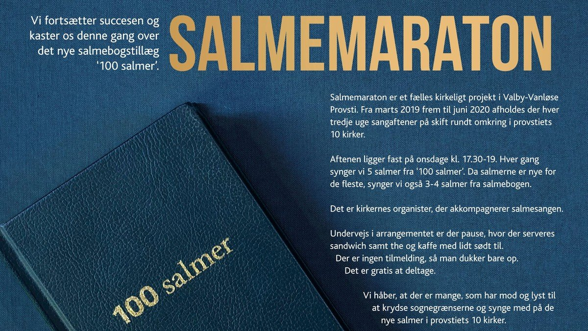 Salmemaraton 100 salmer - Tillæg til salmebogen i Johannes Døbers Kirke