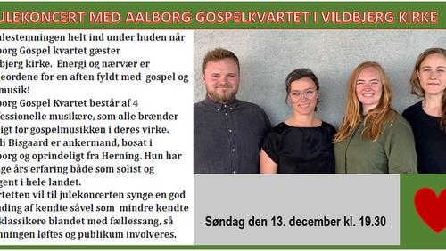 Julekoncert med Ålborg gospel kvartet