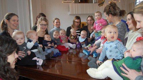 Afslutningsgudstjeneste babysalmesang