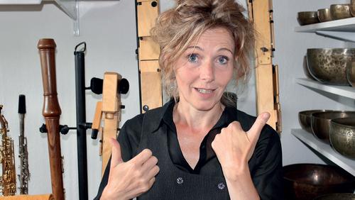 Tine Skau i børnehaven Blangstedgård