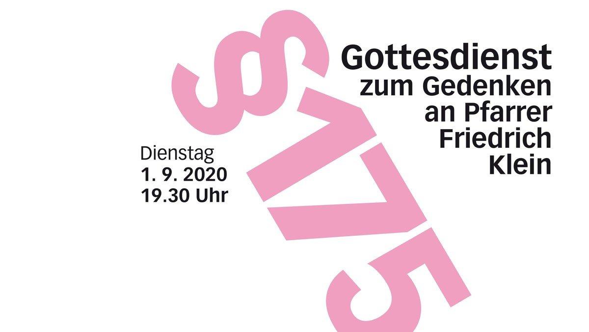 §175: Gottesdienst anlässlich der Rehabilitierung von Pfarrer Friedrich Klein