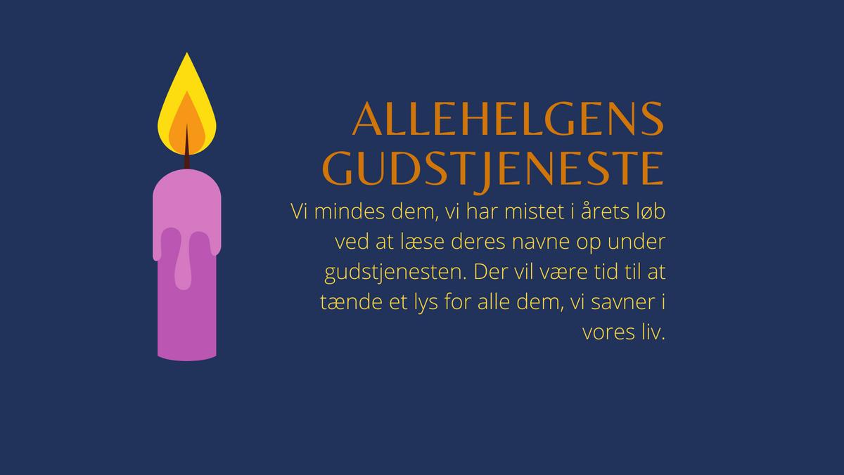 Allehelgensgudstjeneste v/ alle tre præster - Sydhavns Kantori medvirker