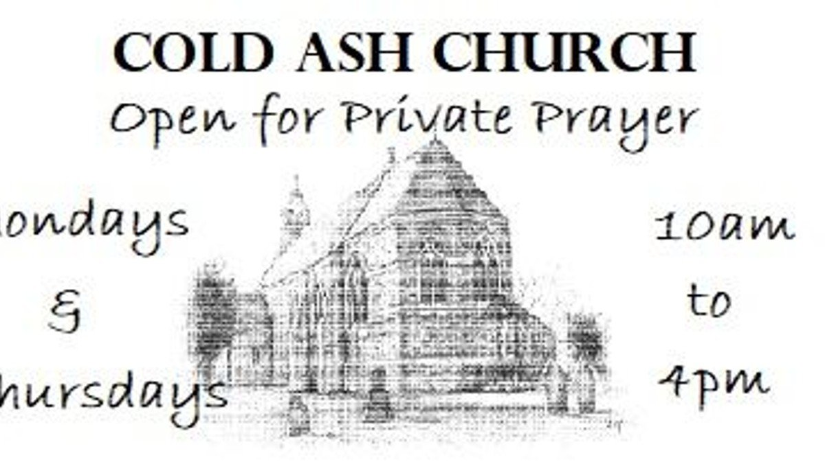 Cold Ash Church open for Private Prayer