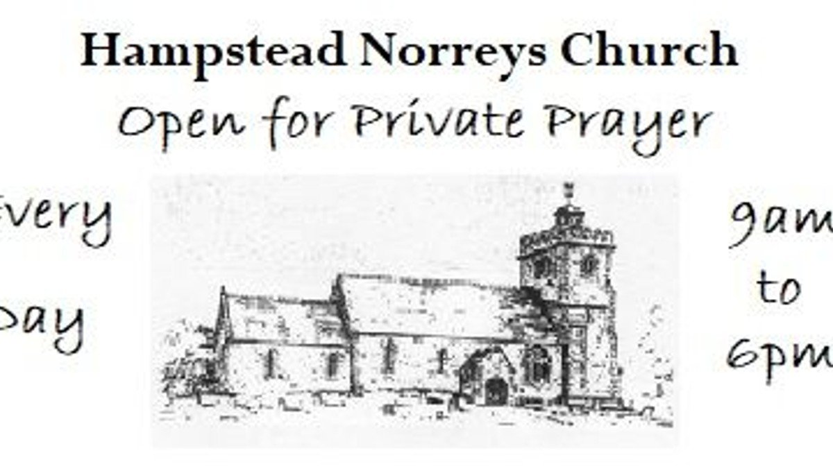Hampstead Norreys Church open for Private Prayers
