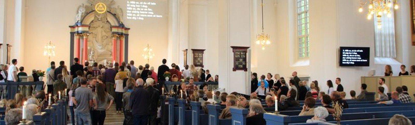Gudstjeneste /Andreas Bøge. Gudstjenesten live-streames