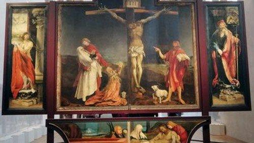 """""""Der Maler Gottes"""". Gottesdienst am Karfreitag mit Pn Paap zu einem Bild von Matthias Grünewald."""