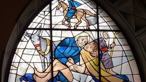 """""""Das Auge ist mein Herz"""" - zum Bild """"Der barmherzige Samariter"""" von Ferdinand Hodler"""