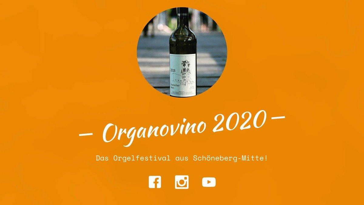ORGANOVINO 2020 - Digitales Orgelfestival von 3.7. bis 7.8.2020
