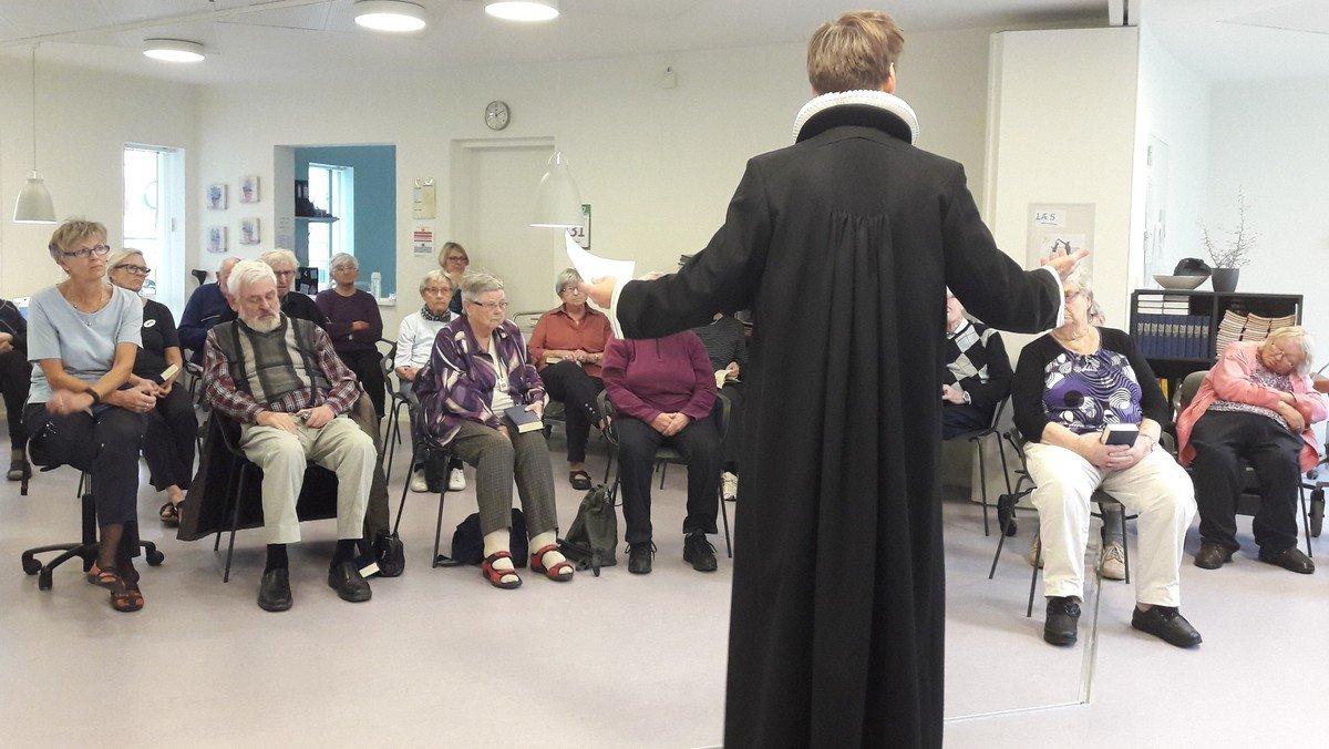 Gudstjeneste på Samsøvejs plejecenter