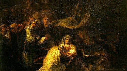 Rembrandt; Die Anbetung der Hirten;