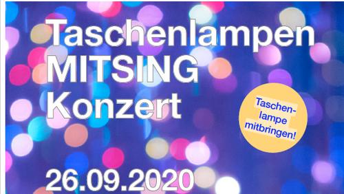 AUSVERKAUFT Taschenlampen-Mitsing-Konzert
