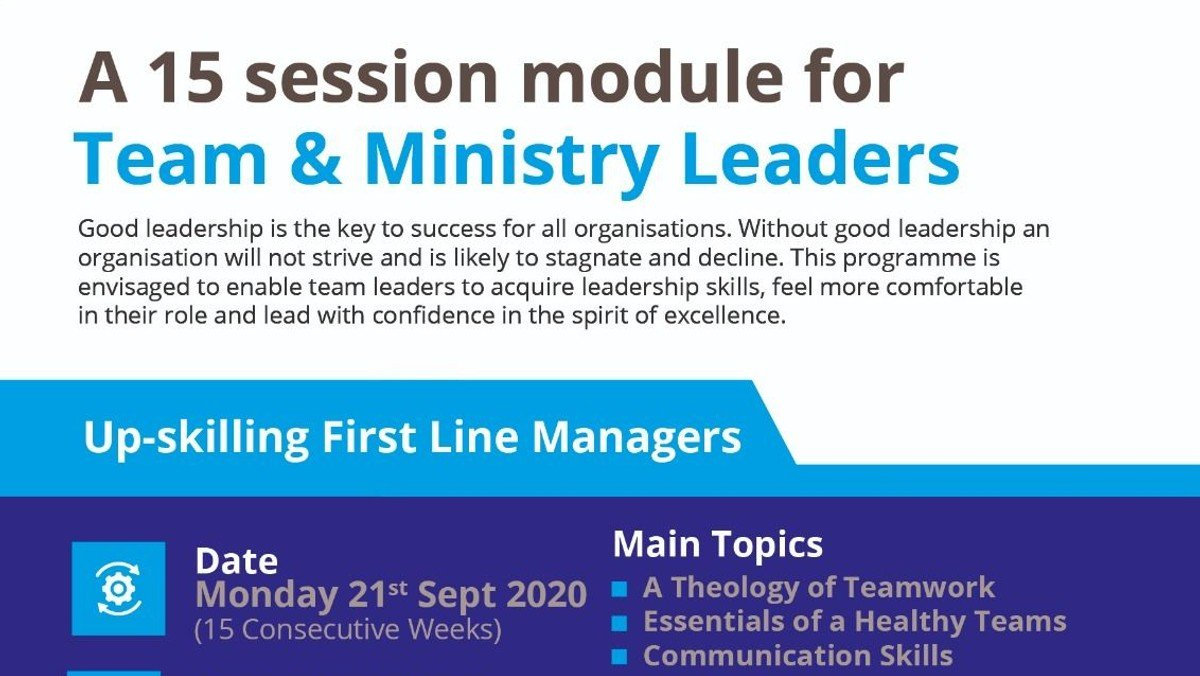 ITCC Course For Team & Ministry Leaders (15 Consecutive Weeks)