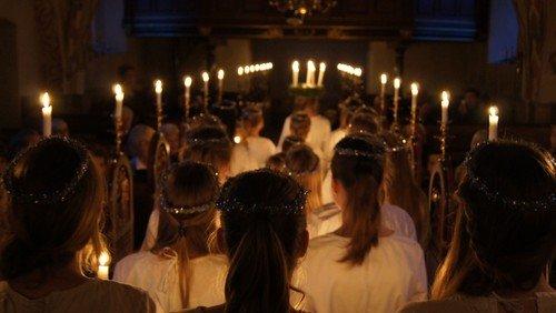 Luciagudstjeneste i Valløby Kirke