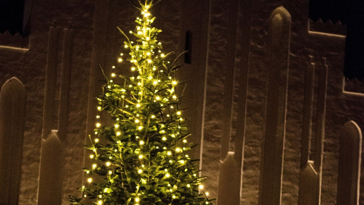 Familiegudstjeneste med juletræstænding