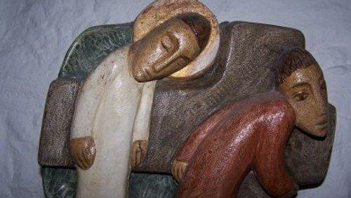 """""""Jesus begegnet seiner Mutter."""" Musikalische Passionsandacht zu einem Kreuzweg-Bild von Sieger Köder in der Paul-Gerhardt-Kirche"""