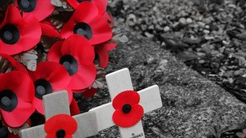 Remembrance at Lammas War Memorial