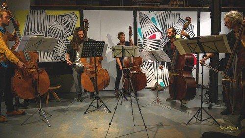 DOPPELKONZERT  Zeitgenössischer Jazz mit dem U.R.I.G. Kontrabass-Quintett und dem Duo Antje Rößeler & Sidney Werner