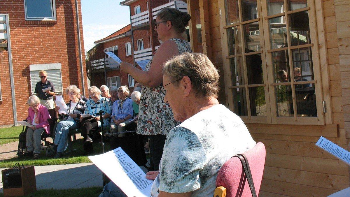 Gudstjeneste på plejehjemmet Stengården