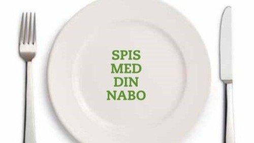 Spis med din nabo - tilmelding senest 26. oktober 2020 på telefon 21308876