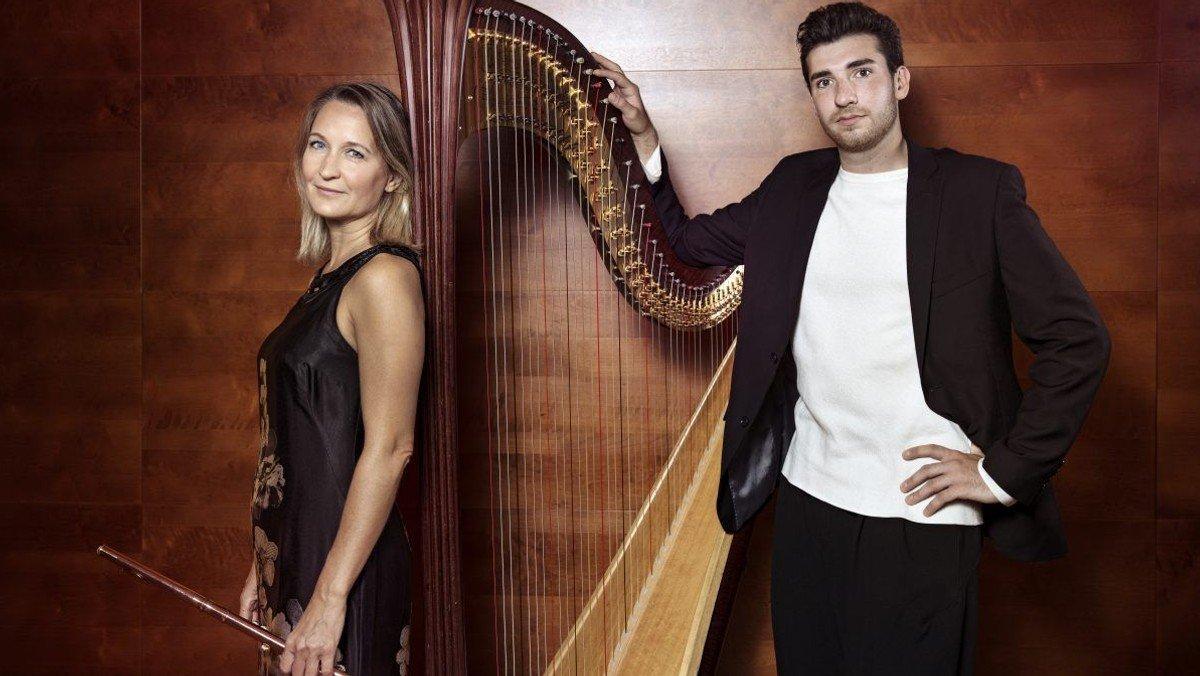 Koncert med fløjte, harpe og bratsch