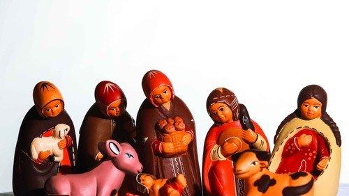 Krippenspielprobe nativity play: Generalprobe mit Aufnahme