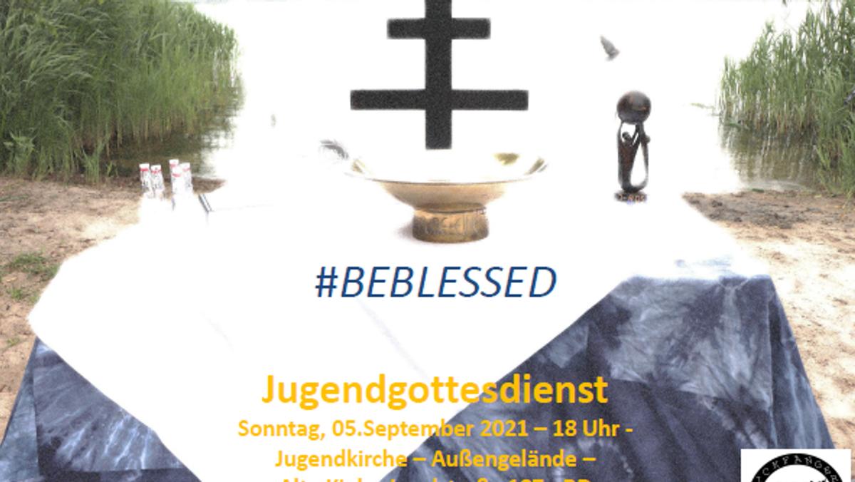 Jugendgottesdienst auf dem Außengelände an  der Bugenhagenkirche