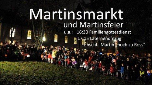 Martinsmarkt, Martinsfeier, Laternenumzug und Martinsreiter