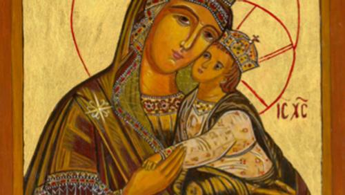 Russisk-ortodoks kor øver i kirken
