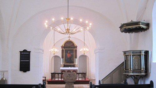 Skærtorsdag ved aftenstid i Nørre Snede kirke