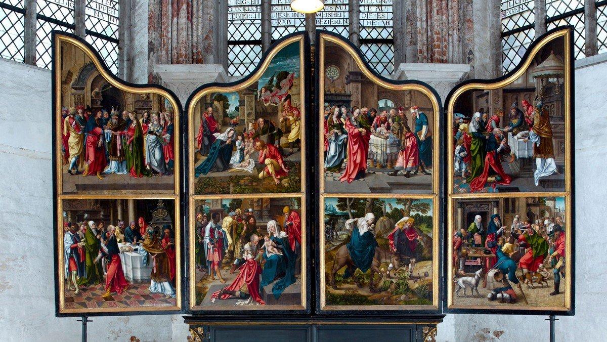 Kirchenführung in der Passionszeit: Die Fastenseite des Marientidenaltars