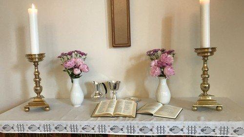 Gudstjeneste, Mariæ bebudelse ved Mads Jakob Jakobsen  i Menighedshuset