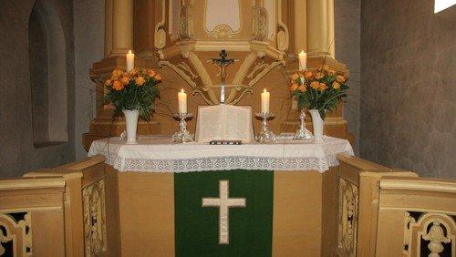 Gottesdienst in der Dorfkirche Britz