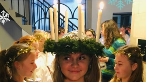 Højmesse - Luciagudstjeneste med årets Luciakorprojekt